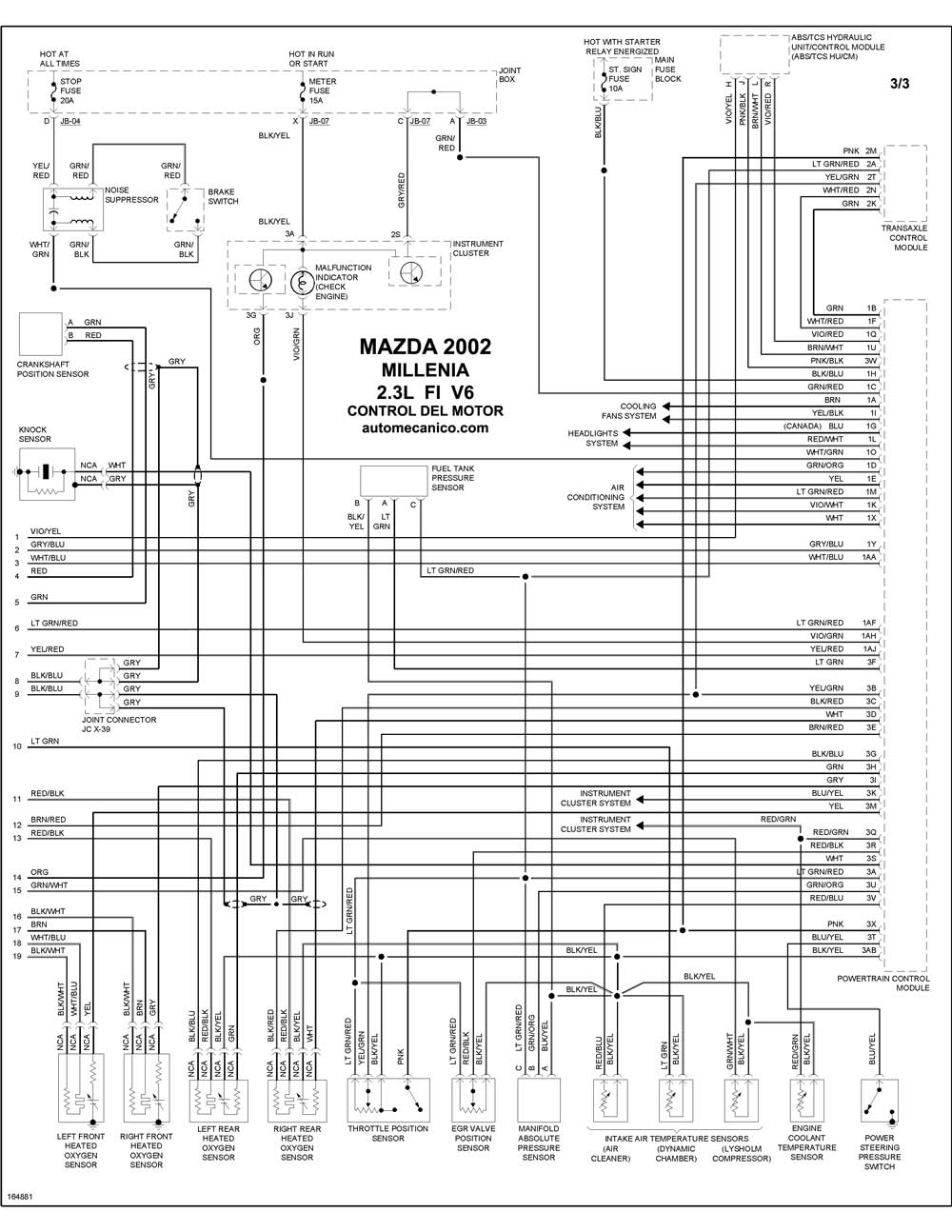 mazda - diagramas control del motor 2002