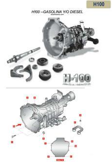 caja de fusible h100 h100 caja de velocidades manual standard transmission