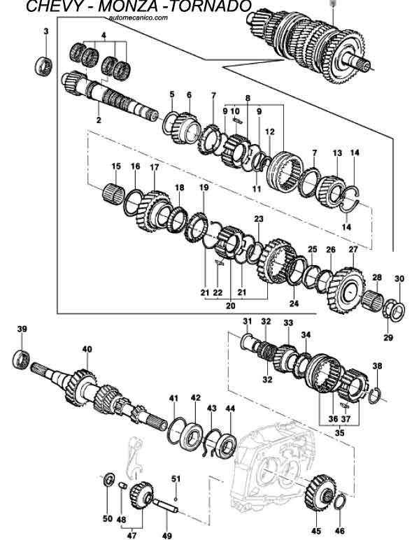 transmission manual de 4 velocidades de descarga