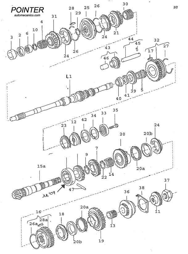 volkswagen caja de velocidades manual standard transmission esquemas despiece