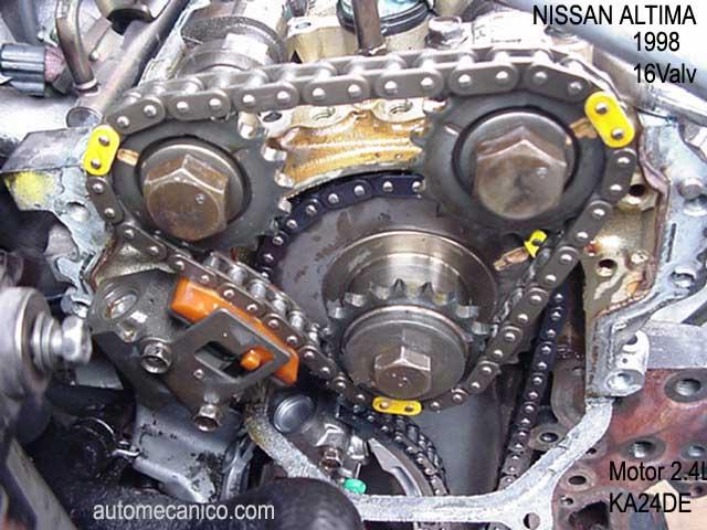 Puesta A Tiempo De Motor 2 4 Nissan