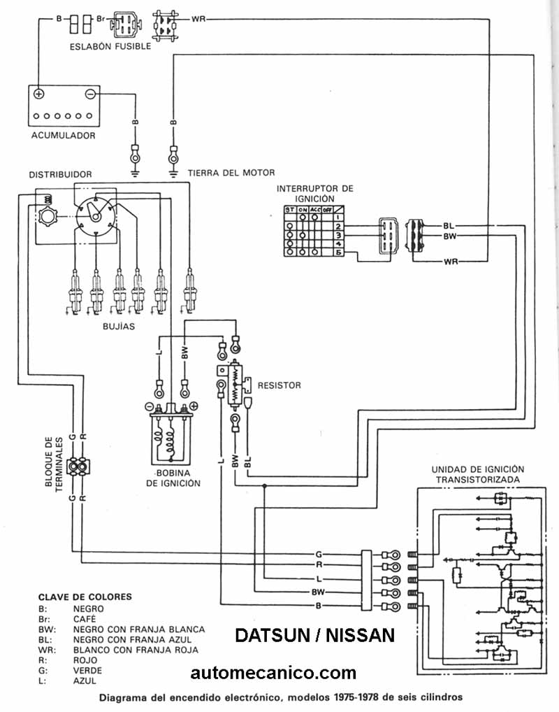Diagramas encendido electronico - nissan