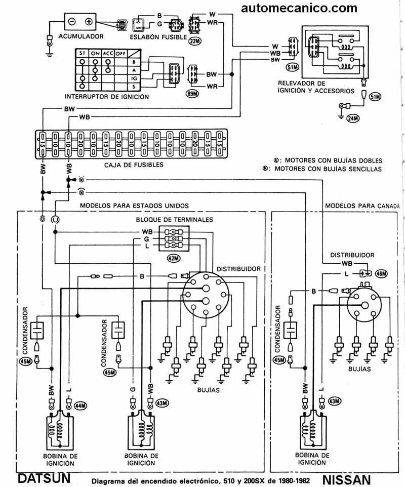 2000 mazda protege radio wiring diagram diagramas encendido electronico nissan  diagramas encendido electronico nissan