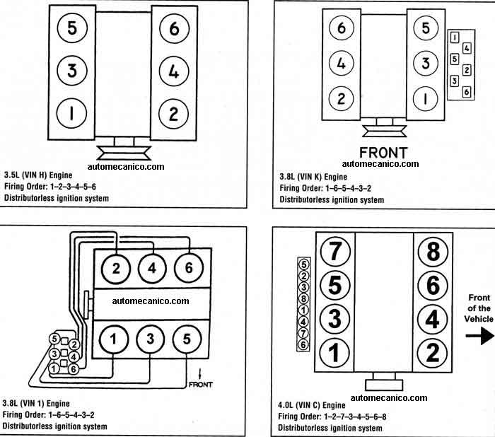 4 6l Firing Order Diagram on 2002 lincoln town car firing order