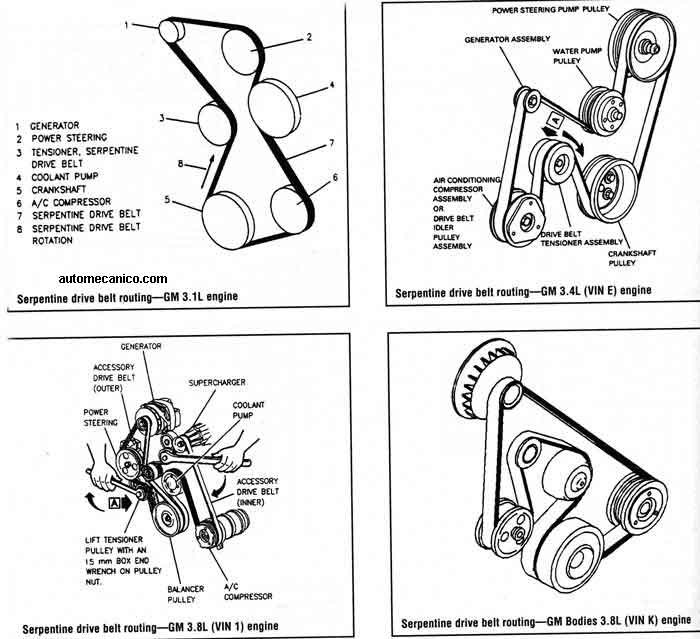 1998 buick park avenue belt diagram