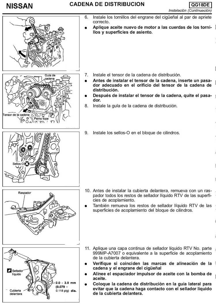 NISSAN SENTRA   CADENA DE TIEMPO - TIMING CHAIN ...