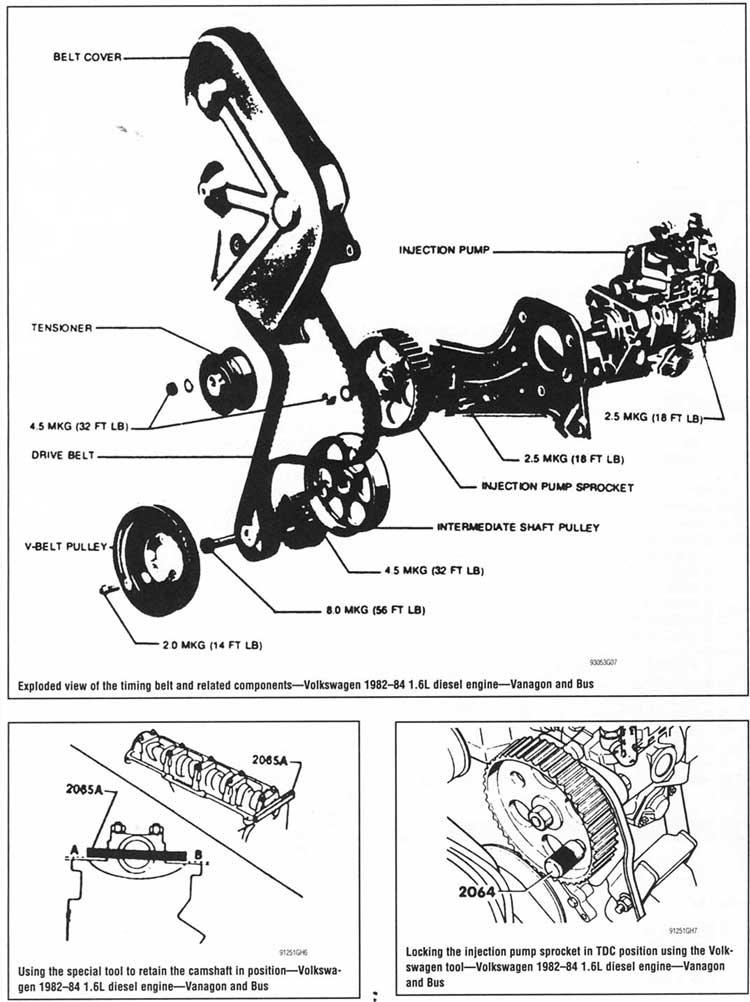 volvo banda de tiempo timing belt descripcion instalacion vehiculos  mecanica