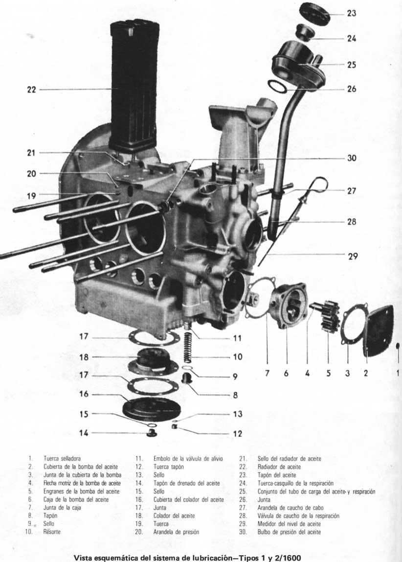 Volkswagen Beetle Escarabajo 1970 79 Despiece Del