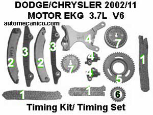 Chrysler Dodge Cadena De Tiempo Timing Chain Motor 3